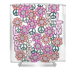 Flower Power 8 Shower Curtain