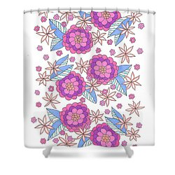 Flower Power 9 Shower Curtain