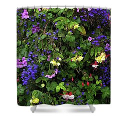 Flower Power Shower Curtain by Kurt Van Wagner