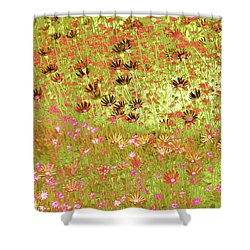Flower Praise Shower Curtain by Linde Townsend