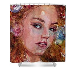Flower Princess Shower Curtain by Judith Levins