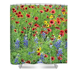 Flower Quilt Shower Curtain