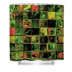 Shower Curtain featuring the digital art Flower Quilt by Lenore Senior