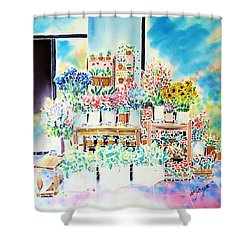 Flower Shop In Paris Shower Curtain