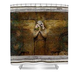 Flower Spes Angel Shower Curtain by Craig J Satterlee