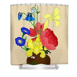 Floral Still Life 1674 Shower Curtain