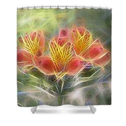 Flower Streaks Shower Curtain