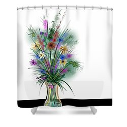 Shower Curtain featuring the digital art Flower Study One by Darren Cannell