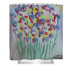 Flower Twists Shower Curtain by Barbara Yearty