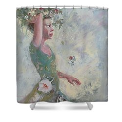 Flower Vender Shower Curtain