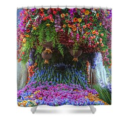 Flower Wave Shower Curtain
