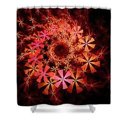 Flower Whirlpool Shower Curtain by Anastasiya Malakhova