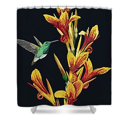Flower With Bird Shower Curtain