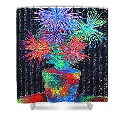 Flower-works Plant Shower Curtain