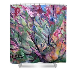 Flowering Shower Curtain by Betty Pieper