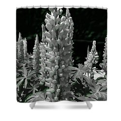 Flowering Green Aura Shower Curtain