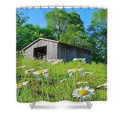 Flowering Hillside Meadow Shower Curtain