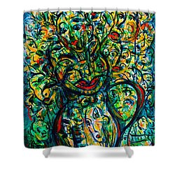 Flowering Humans Shower Curtain by Natalie Holland