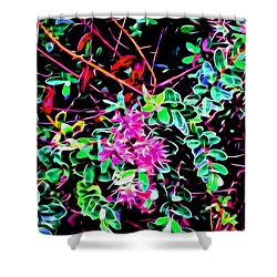 Flowering In Abstract 5 Shower Curtain