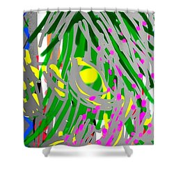 Flowering Orchids Shower Curtain