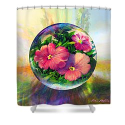 Flowering Panopticon Shower Curtain