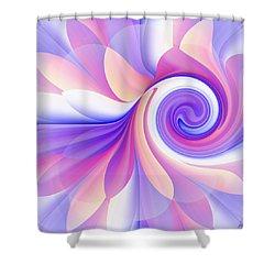 Flowering Pastel Shower Curtain