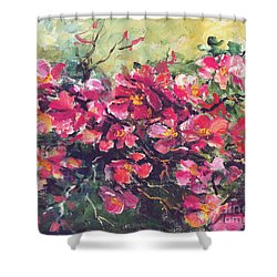 Flowering Quince Shower Curtain