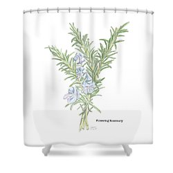 Flowering Rosemary Shower Curtain