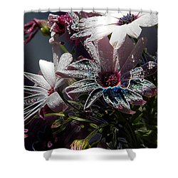 Shower Curtain featuring the digital art Flowers by Stuart Turnbull