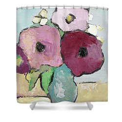 Flowers 1601 Shower Curtain by Becky Kim