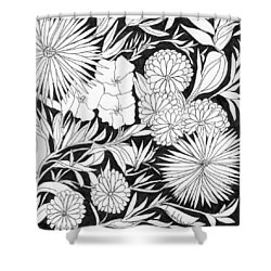 Shower Curtain featuring the painting Flowers 3 by Lou Belcher