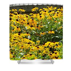 Flowers A Go Go Shower Curtain by Jake Hartz
