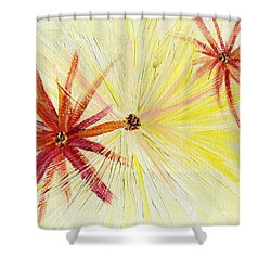 Flowers Abstract Shower Curtain