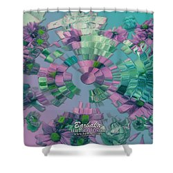 Shower Curtain featuring the photograph Flowers And Paper by Barbara Tristan