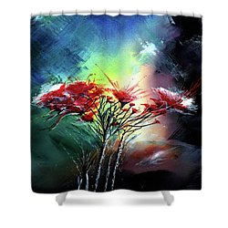 Flowers Shower Curtain by Anil Nene