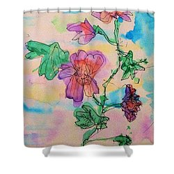 Flowers Are Blooming  Shower Curtain
