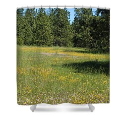 Flowers At Fish Hatchery Shower Curtain