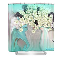 Water Please Shower Curtain by Sherri's Of Palm Springs