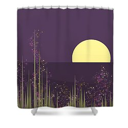 Flowers Blooming At Night Shower Curtain