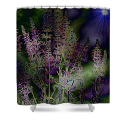 Flowers By Moonlight Shower Curtain