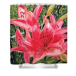 Flowers By The Gate Shower Curtain