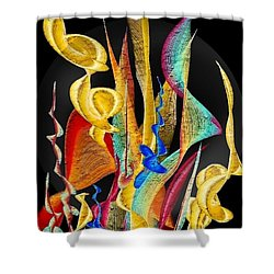 Shower Curtain featuring the digital art Flowers Dream By Nico Bielow by Nico Bielow