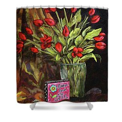 Flowers Feed The Soul Shower Curtain