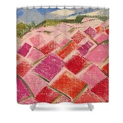 Flowers Fields Shower Curtain