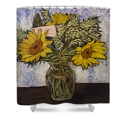 Flowers For Janice Shower Curtain by Ron Richard Baviello