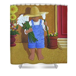 Flowers For A Friend Shower Curtain by Lance Headlee