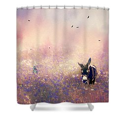 Flowers For Breakfast Shower Curtain by Diane Schuster