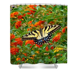 Flowers For Butterflies Shower Curtain