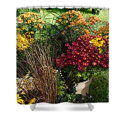 Flowers For Sale Shower Curtain by David Blank