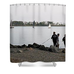 Flowers For The Lady Shower Curtain by John Scates